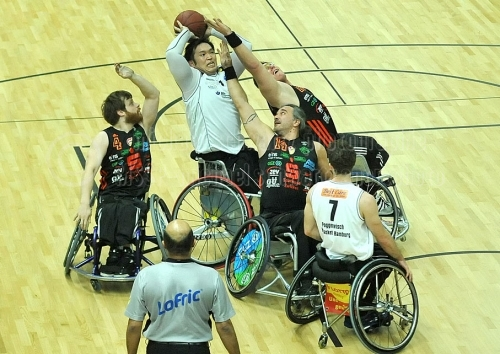 BG Baskets Hamburg -  RSC-Rollis Zwickau am 01. November 2014 (© MSSP)