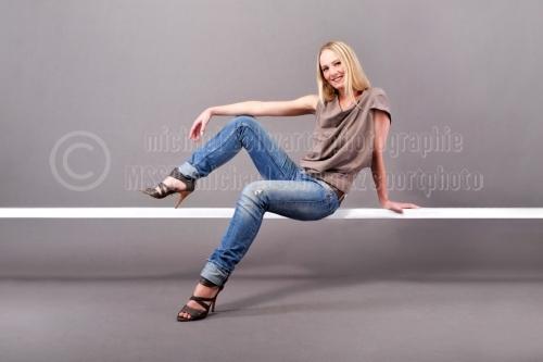 Modelshooting fuer Shirt-Produktion (© schwartz photographie)