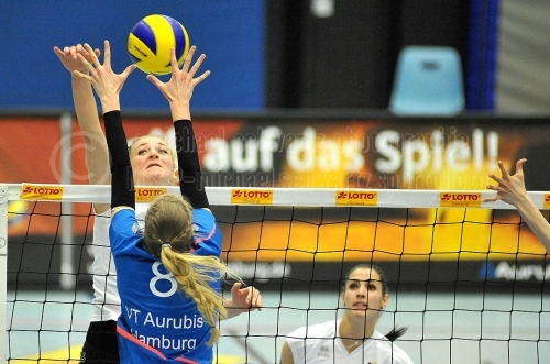 VT Aurubis Hamburg - Ladies in Black Aachen am 26. Februar 2016 (© MSSP)