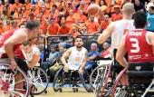 Niederlande - Tuerkei bei der Rollstuhlbasketball-WM 2018 in Hamburg am 21.08.2018 (© MSSP - Michael Schwartz)