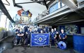 Teamfoto der BG Baskets Hamburg im Volksparkstadion am 25. September 2018 (© MSSP - Michael Schwartz)